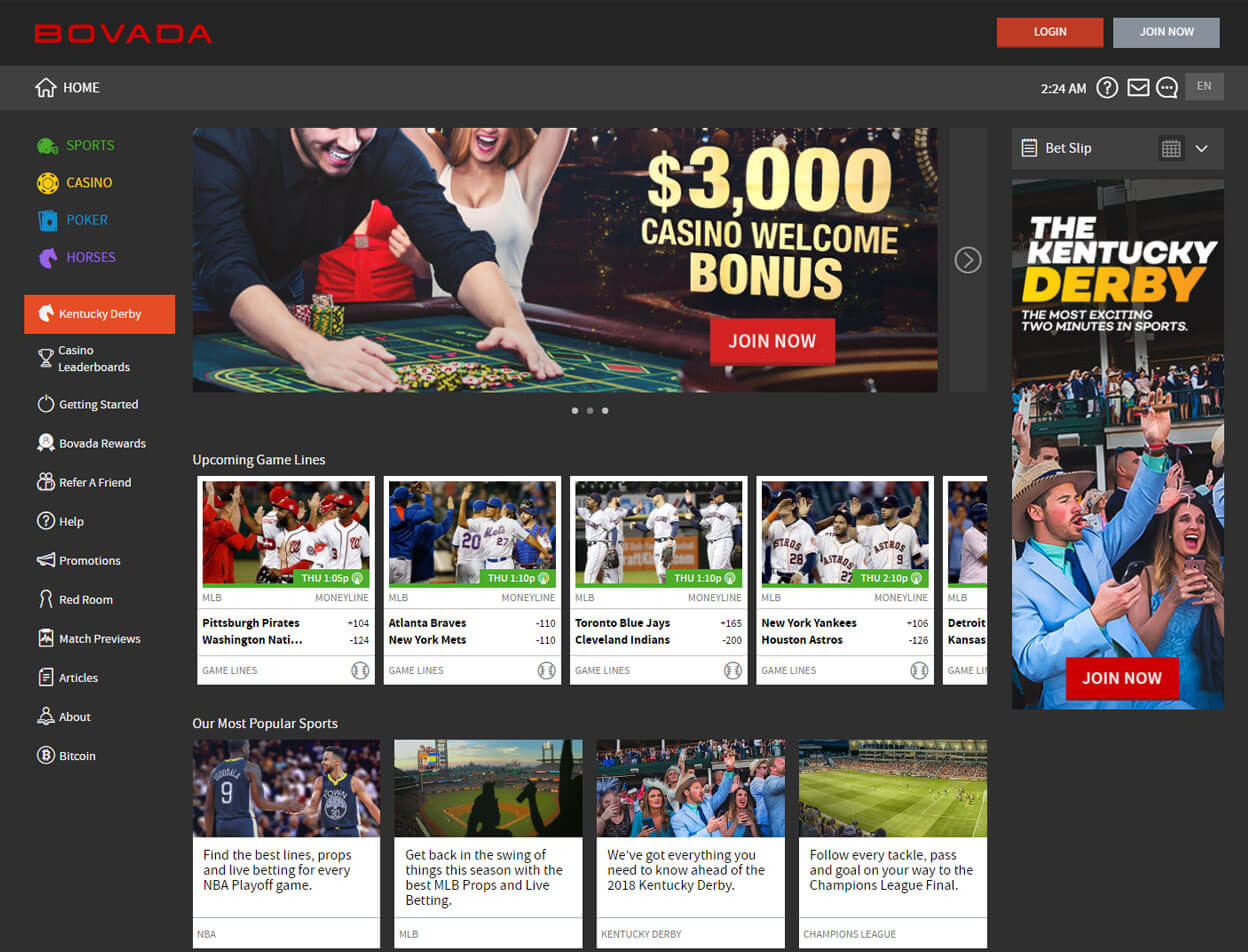 Bovada Casino Screenshot 1