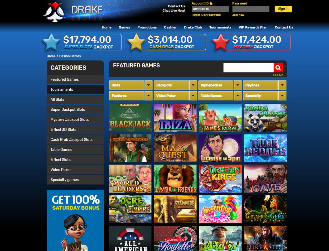 Drake Casino Screenshot 2