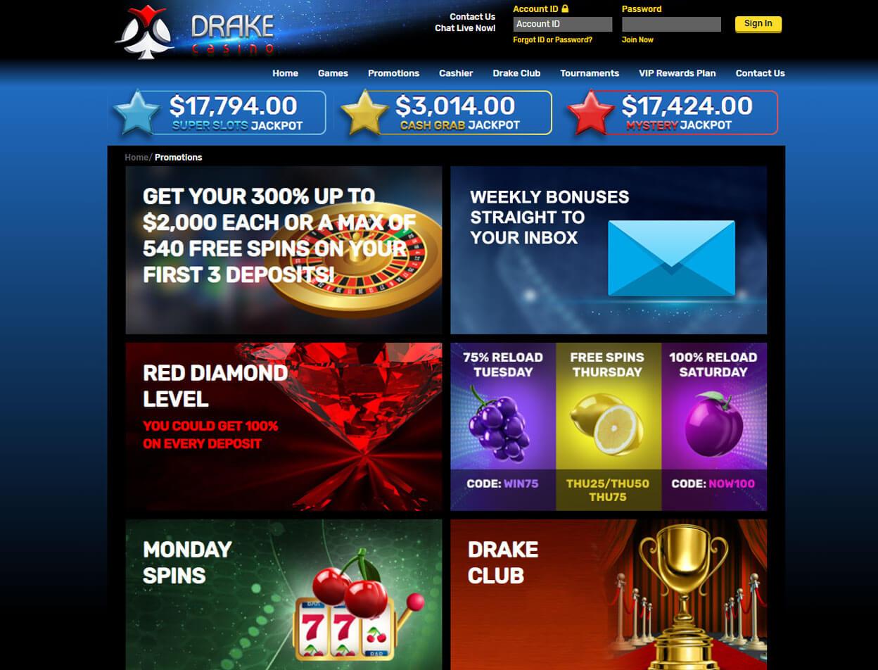 Drake Casino Screenshot 3