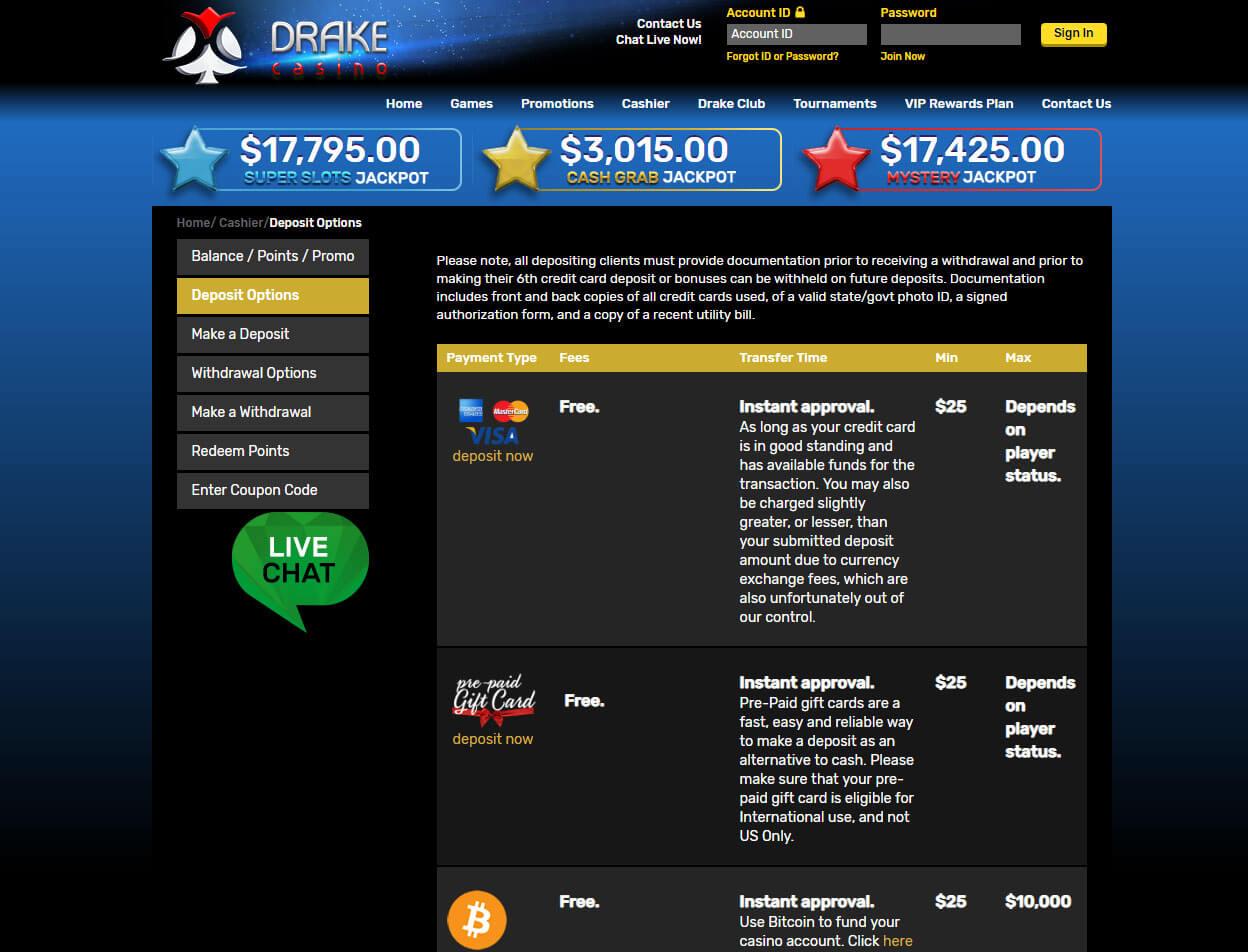 Drake Casino Screenshot 4
