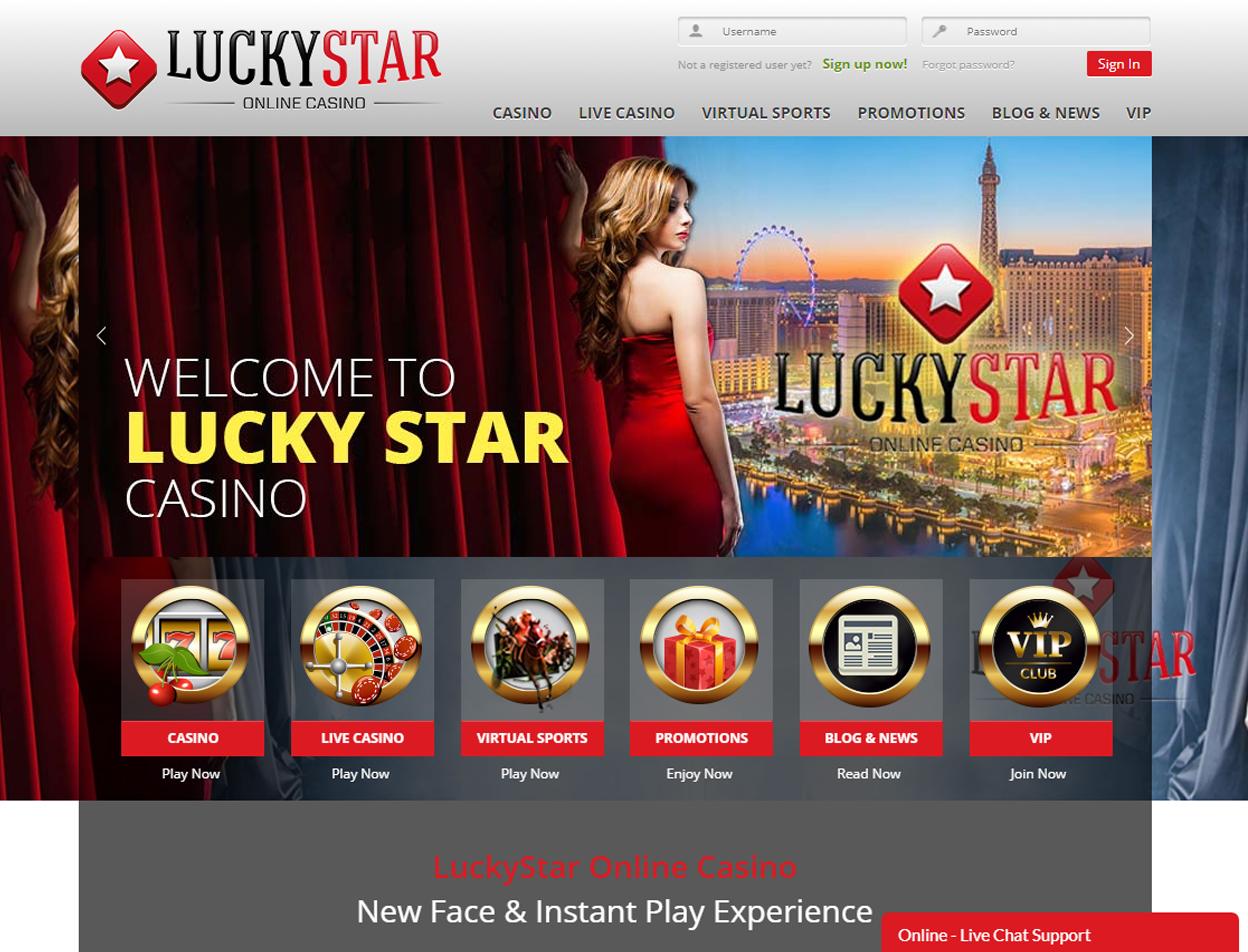 LuckyStar Casino Screenshot 3