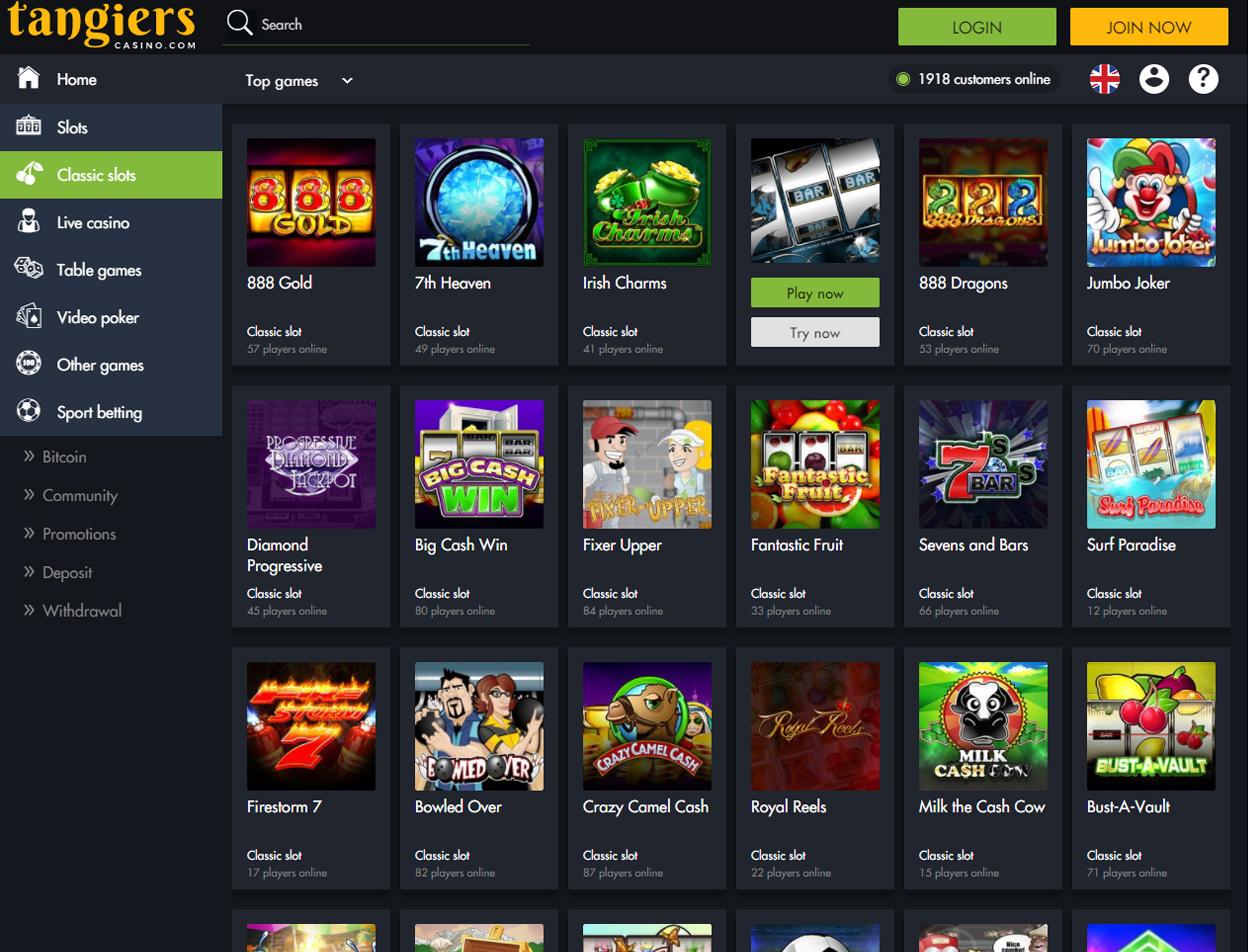 Tangiers Online Casino