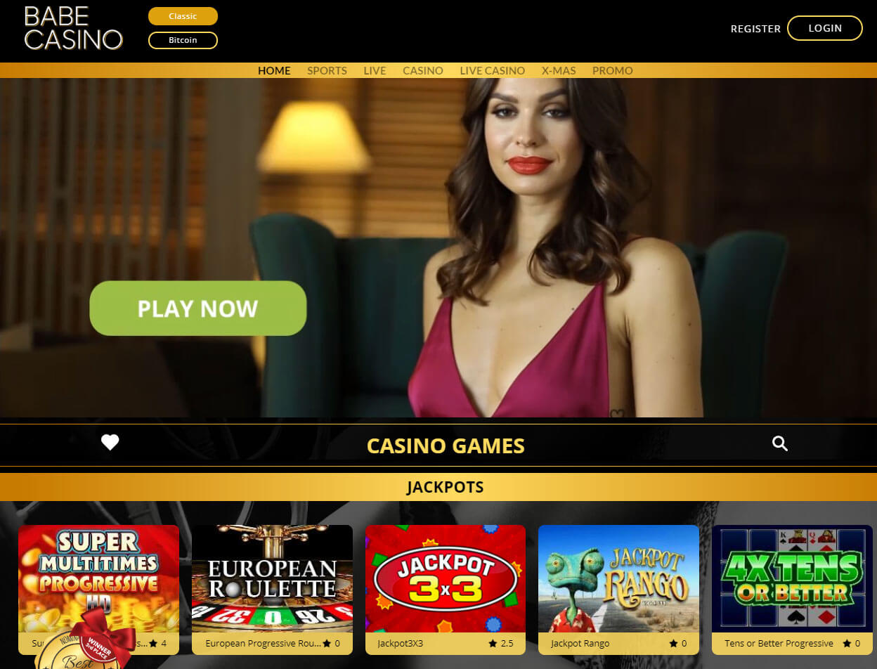 Babe Casino Screenshot 1