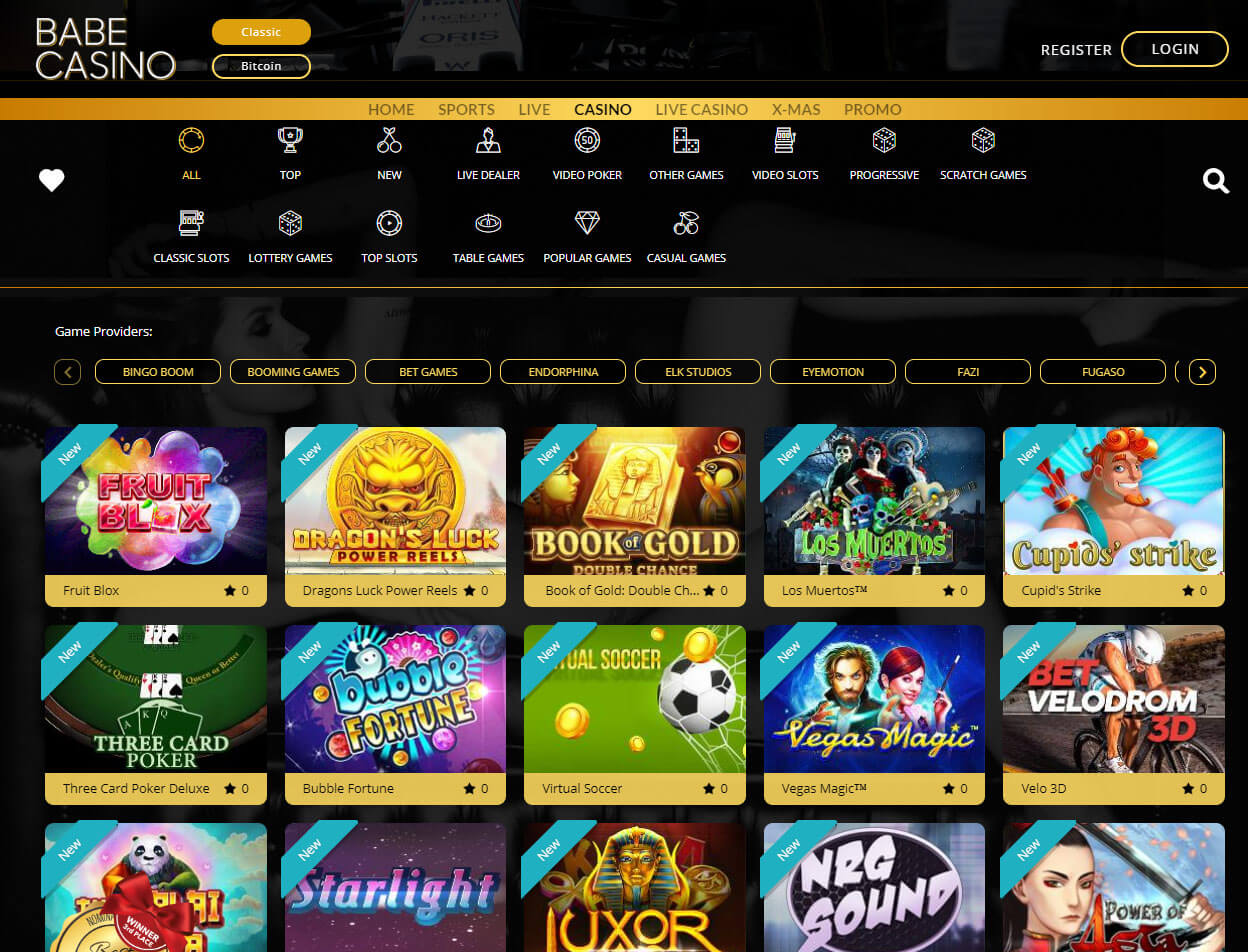 Babe Casino Screenshot 3