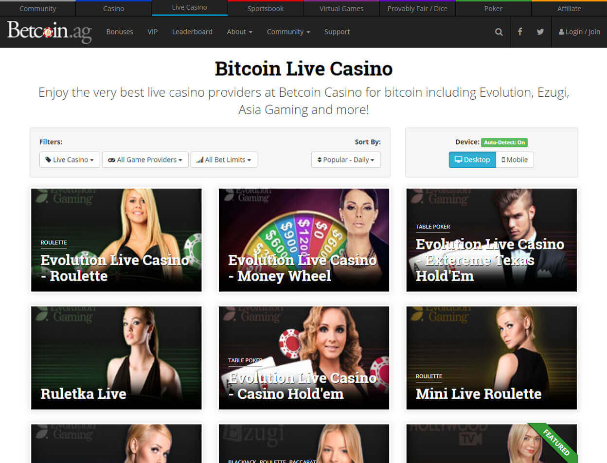 Betcoin.ag Casino Screenshot 3