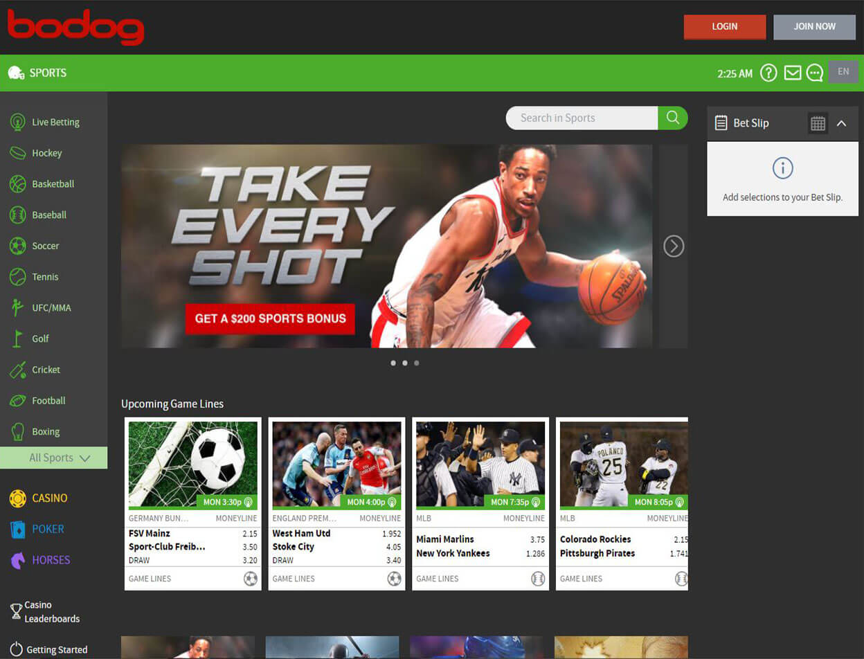 Bodog Casino Screenshot 2