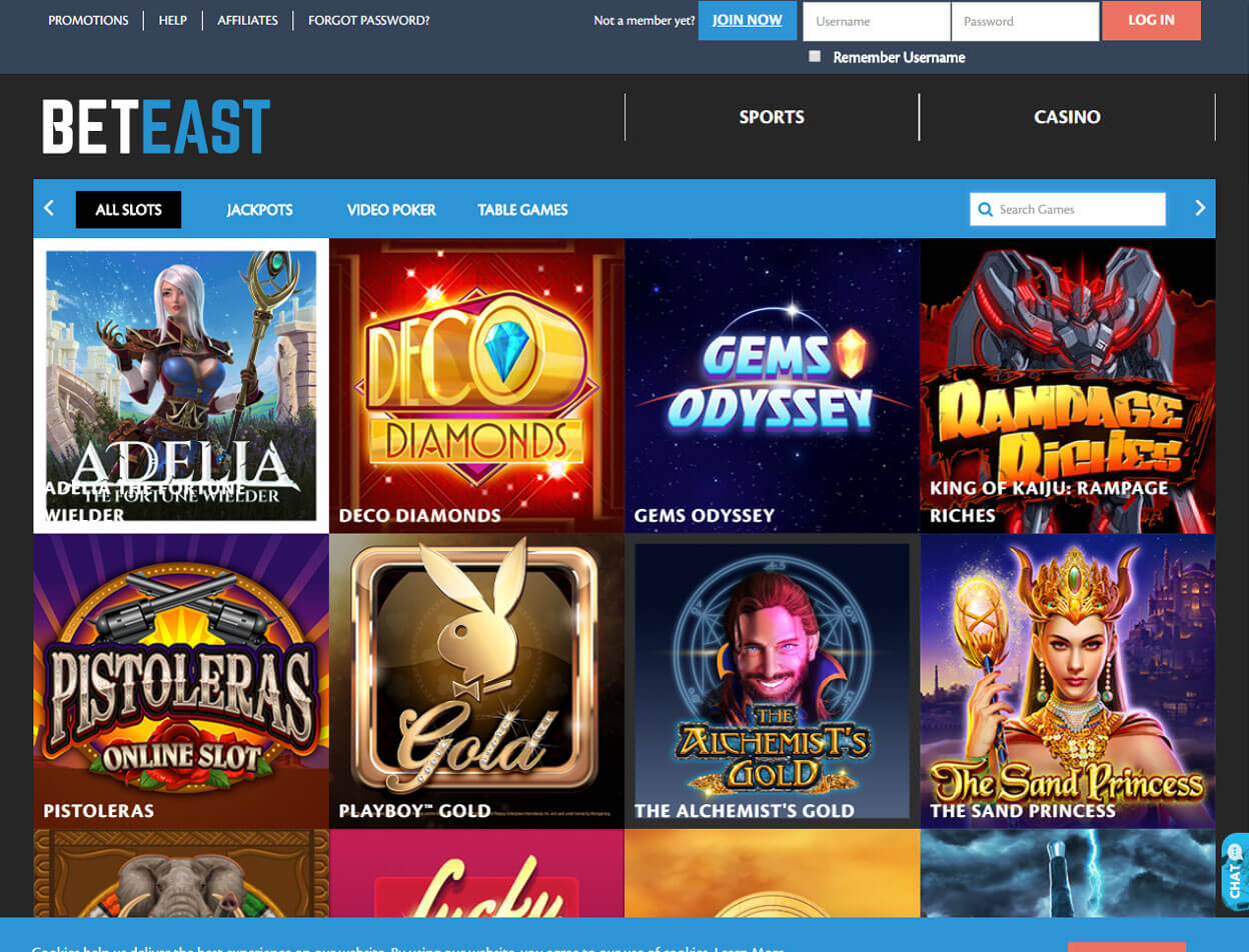 BetEast Casino Screenshot 3