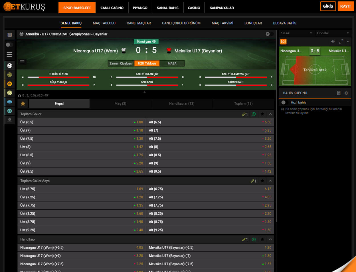 BetKurus Casino Screenshot 1
