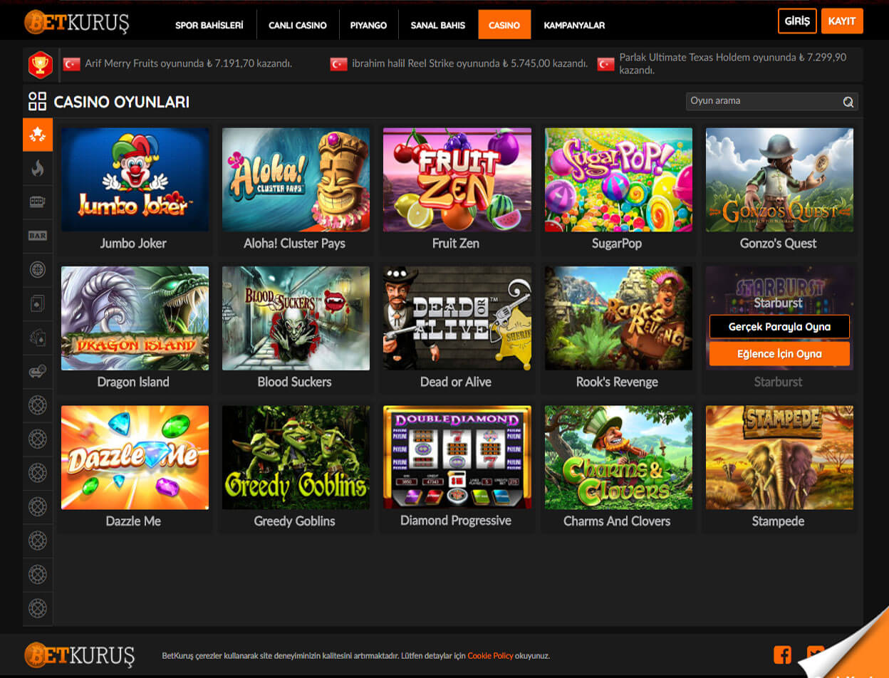 BetKurus Casino Screenshot 2