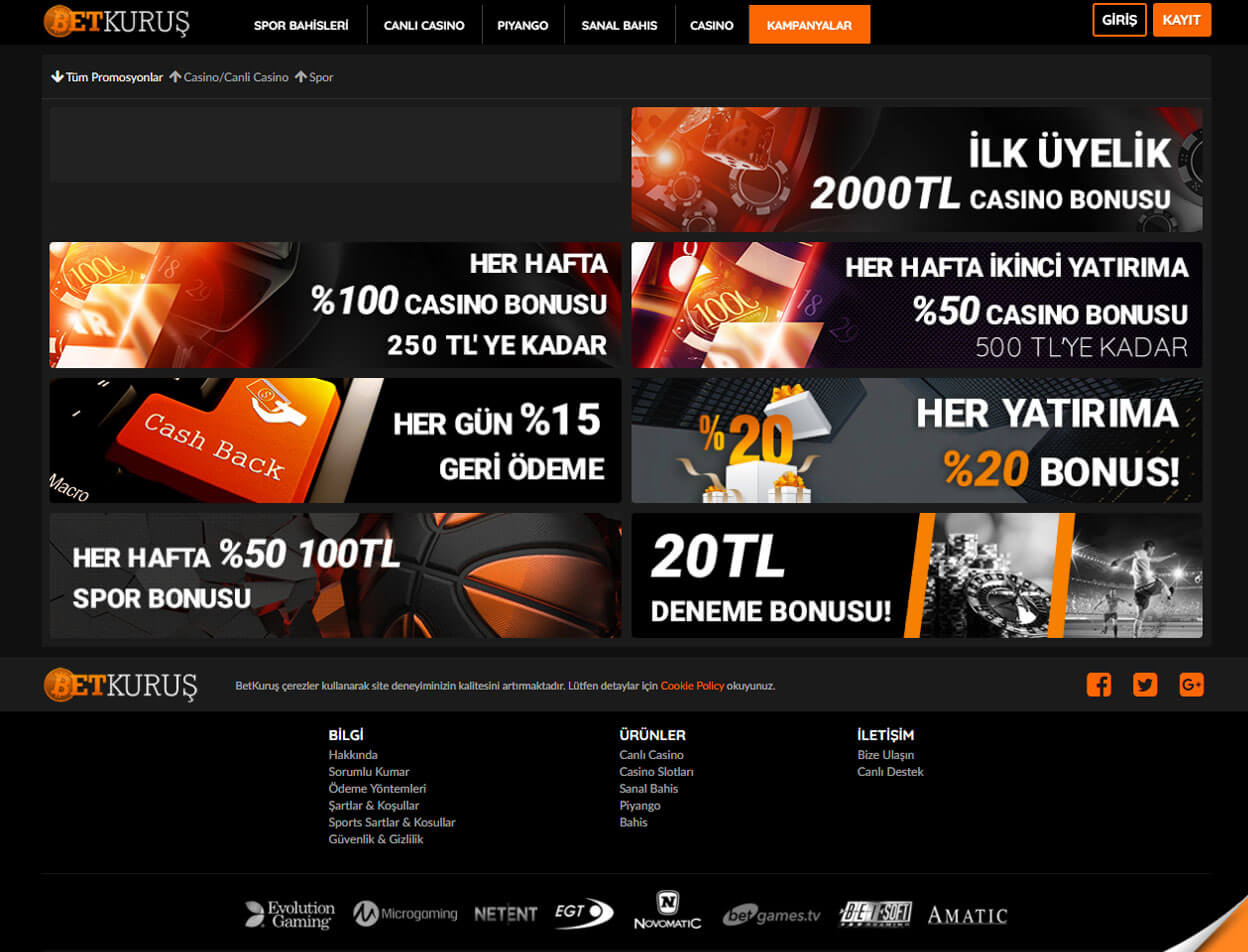 BetKurus Casino Screenshot 3