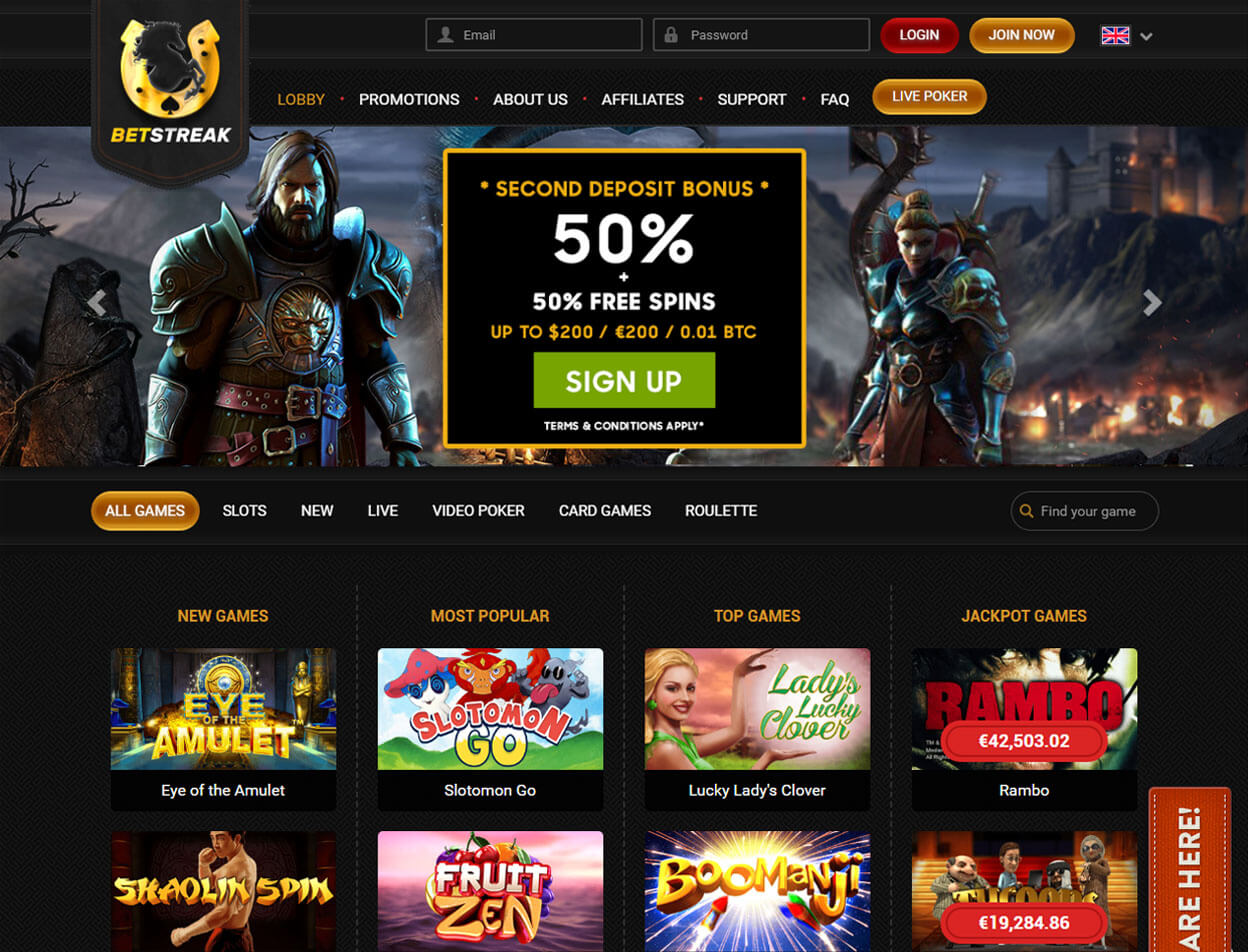 BetStreak Casino Screenshot 1