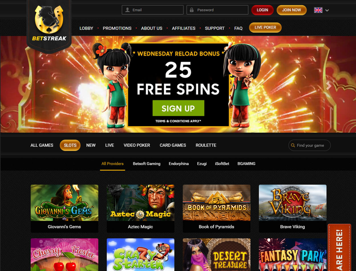 BetStreak Casino Screenshot 3