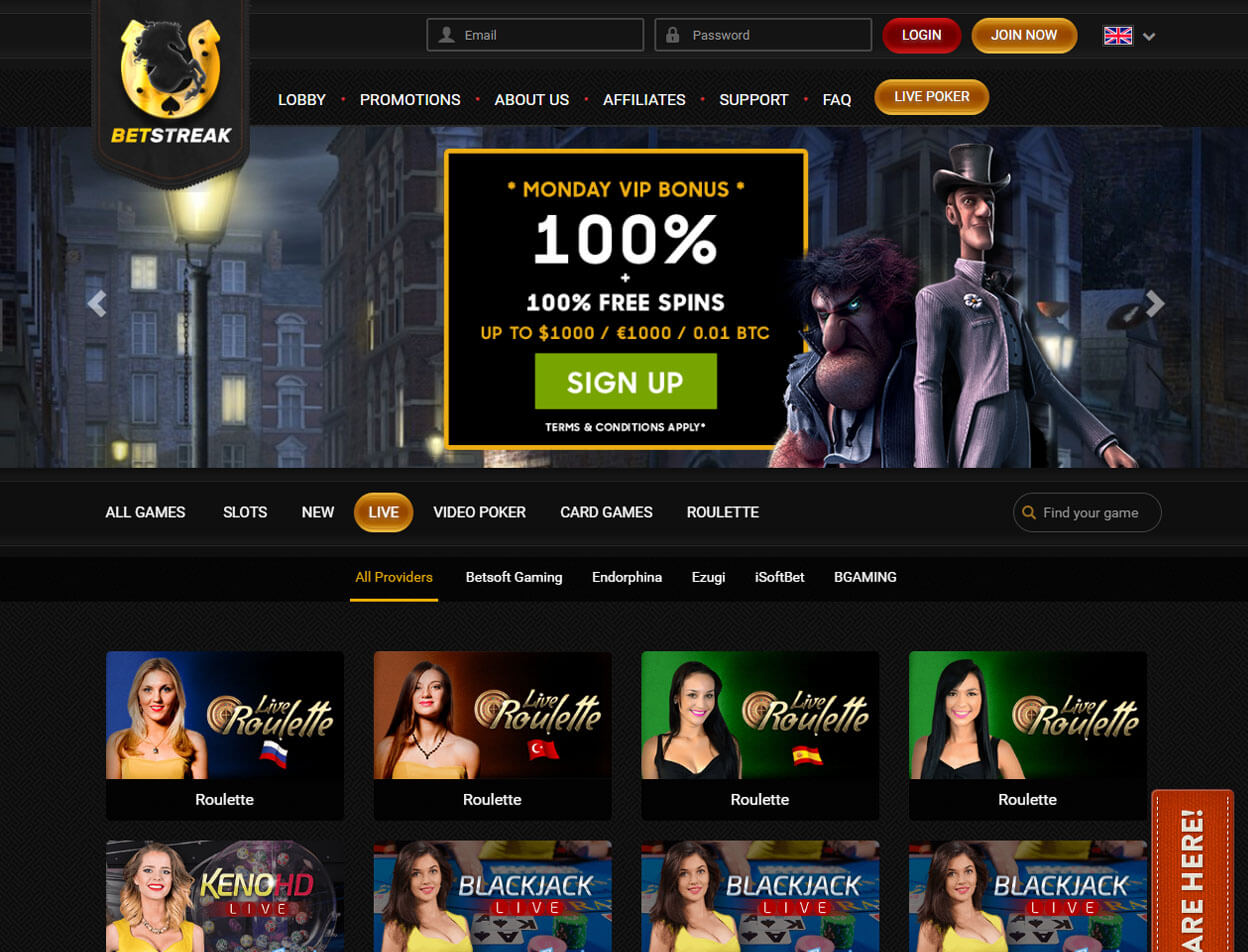 BetStreak Casino Screenshot 4