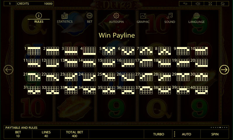 Durga Slot payline