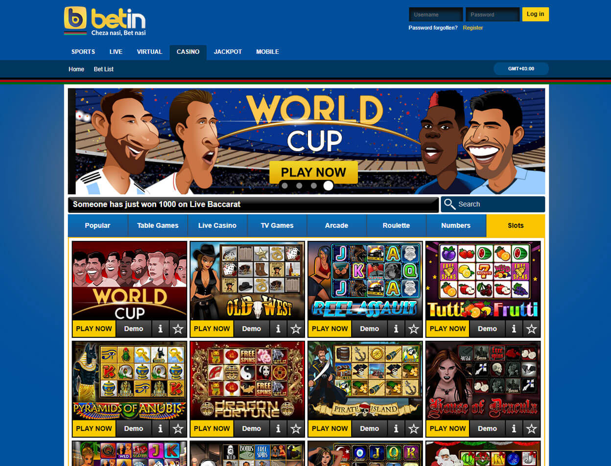 Betin Casino Screenshot 1