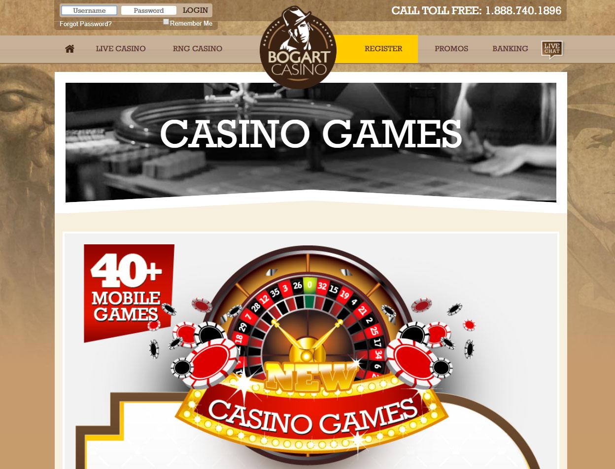 Bogart Casino Screenshot 1