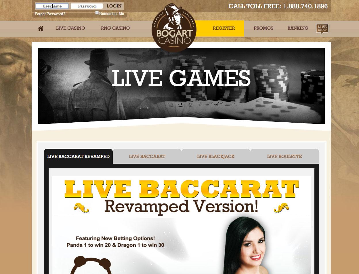 Bogart Casino Screenshot 2