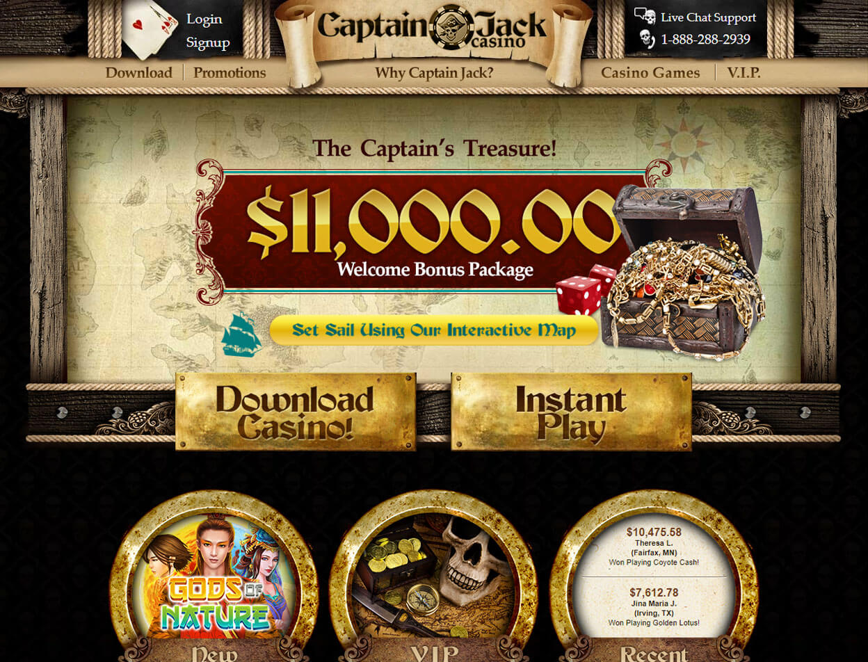 Captain Jack Casino Screenshot 1