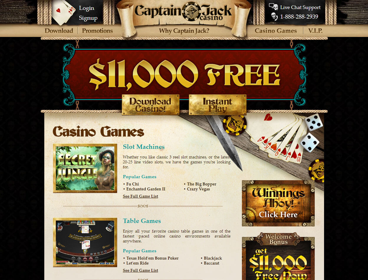 Captain Jack Casino Screenshot 2