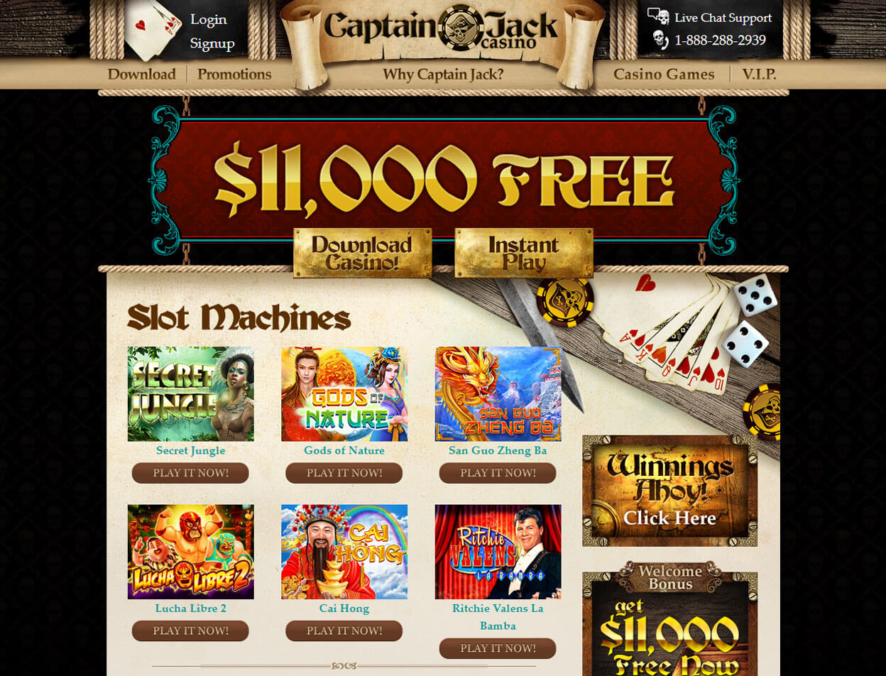 Captain Jack Casino Screenshot 3
