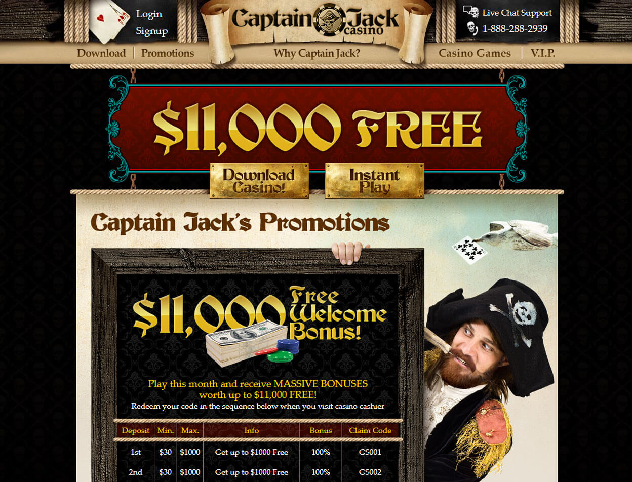 Captain Jack Casino Screenshot 4
