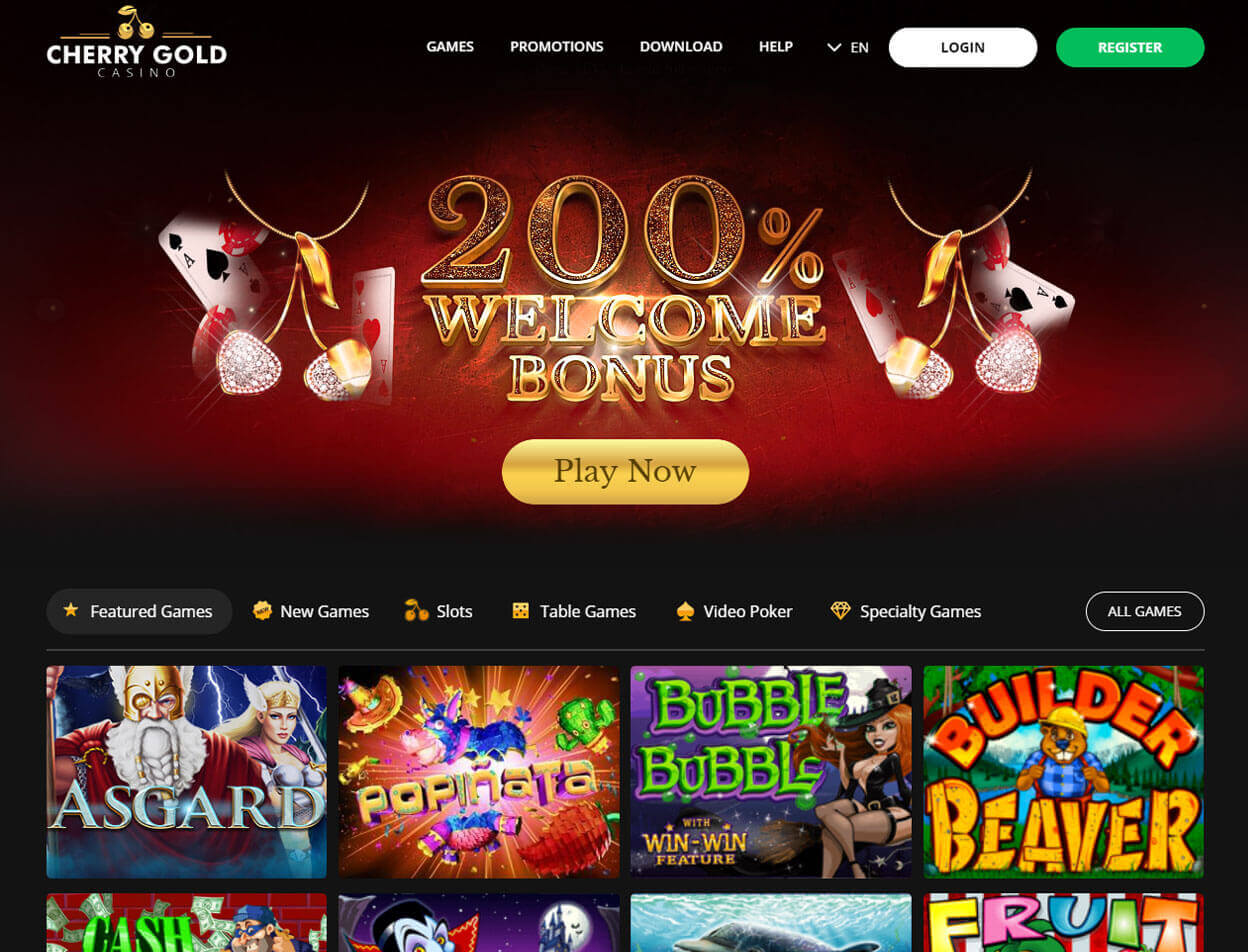 Cherry Gold Casino Screenshot 1