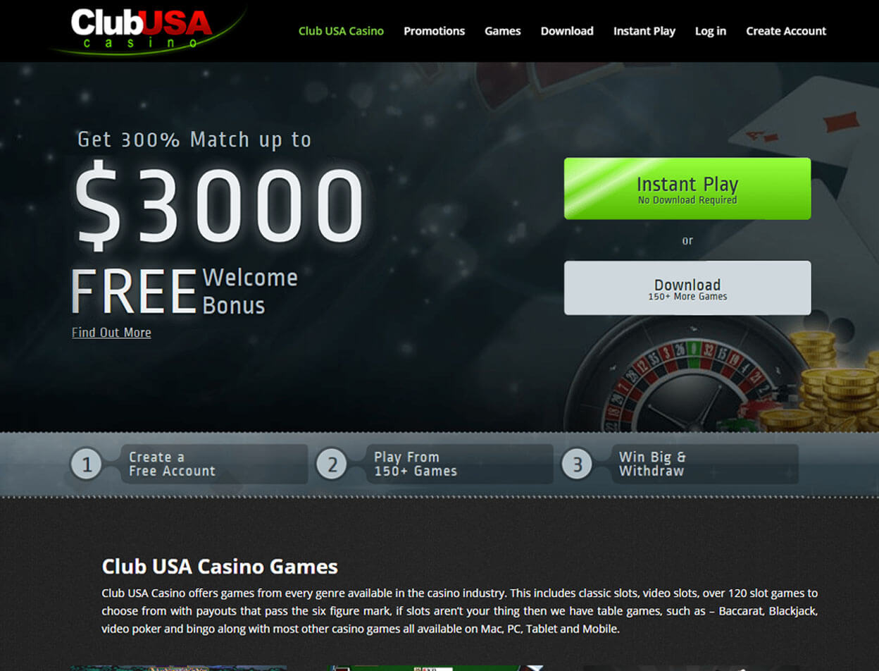 Club USA Casino Screenshot 1