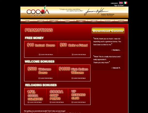 Cocoa Casino Screenshot 4