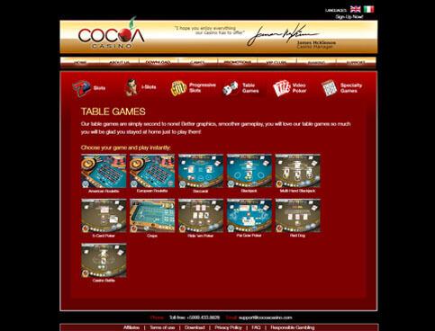 Cocoa Casino Screenshot 3