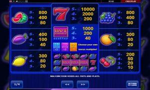 Hot Choice slot paytable