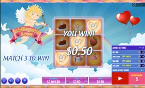 Mega Love slot game feature