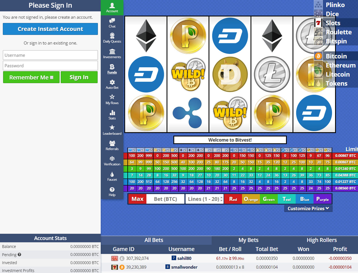 Bitvest Screenshot 2