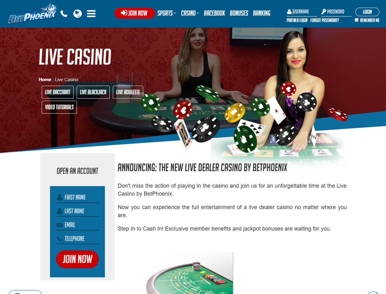 BetPhoenix Casino Screenshot 2