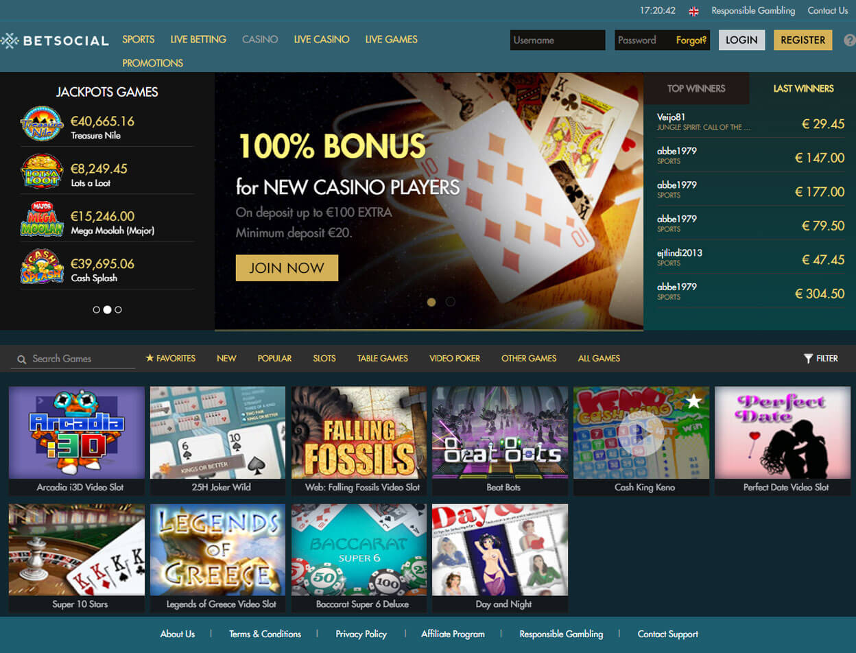 Betsocial Casino Screenshot 1