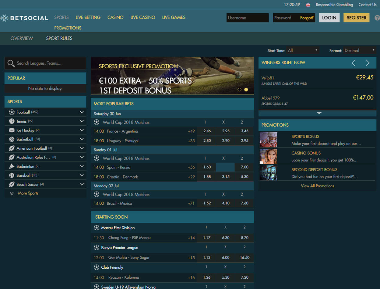 Betsocial Casino Screenshot 3