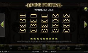Divine Fortune Slot Paylines