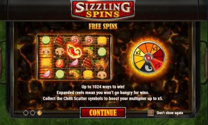 Sizzling Spins Screenshot 3