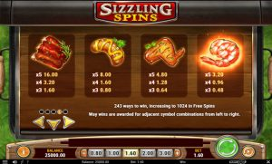 Sizzling Spins Screenshot 2