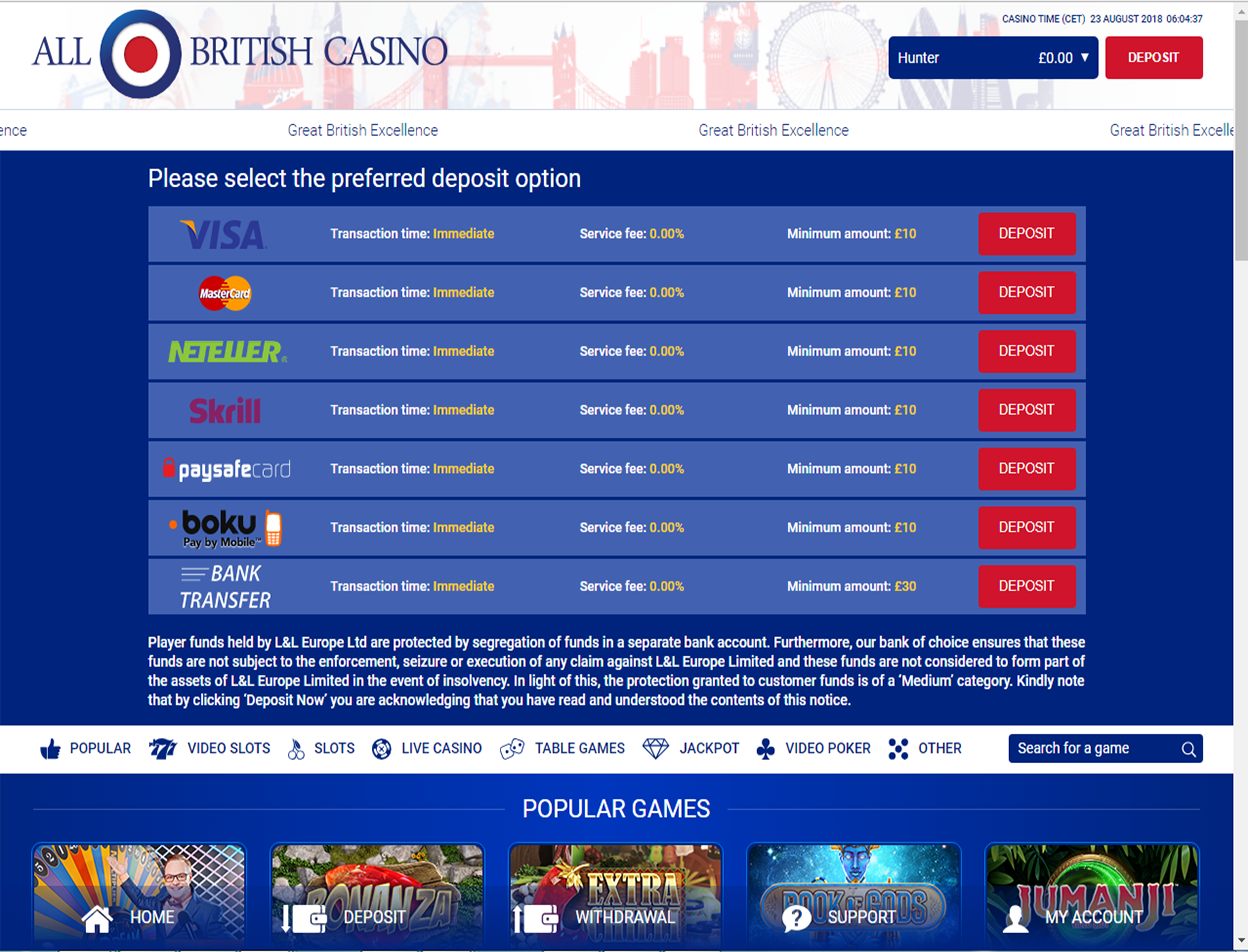All British Casino Screenshot 4