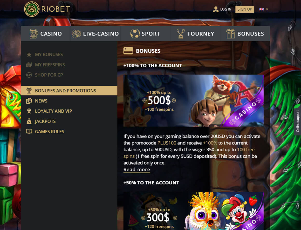 Riobet Casino Screenshot 2