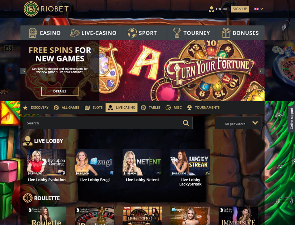 Riobet Casino Screenshot 3