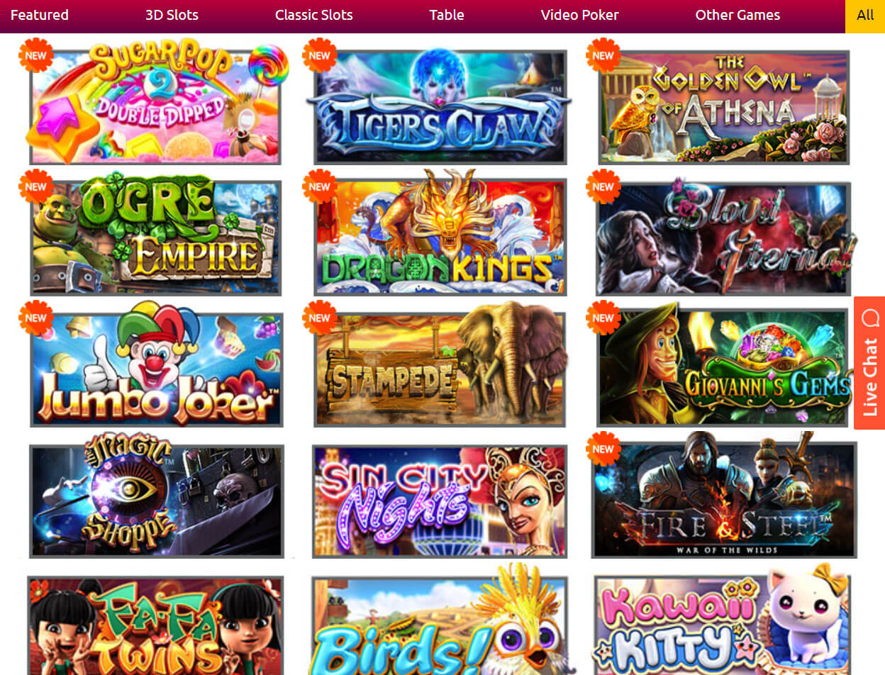 Funclub Casino Screenshot 3