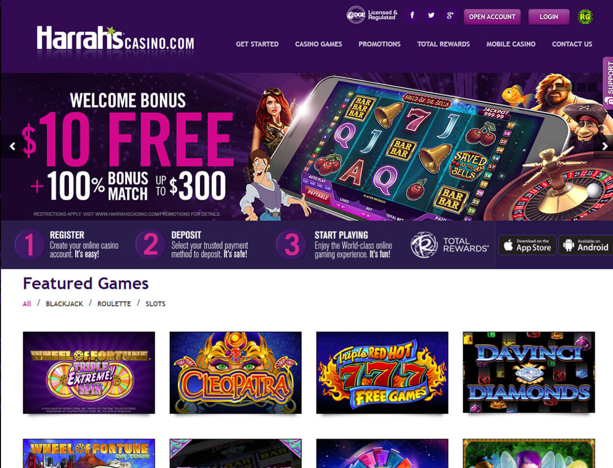 Harrah's Casino Screenshot 1