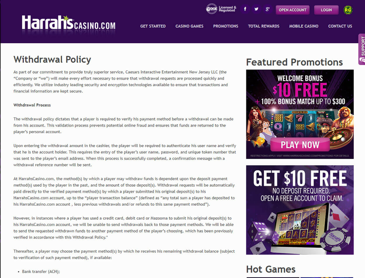 Harrah's Casino Screenshot 4