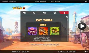 The Wild 3 - Paytable