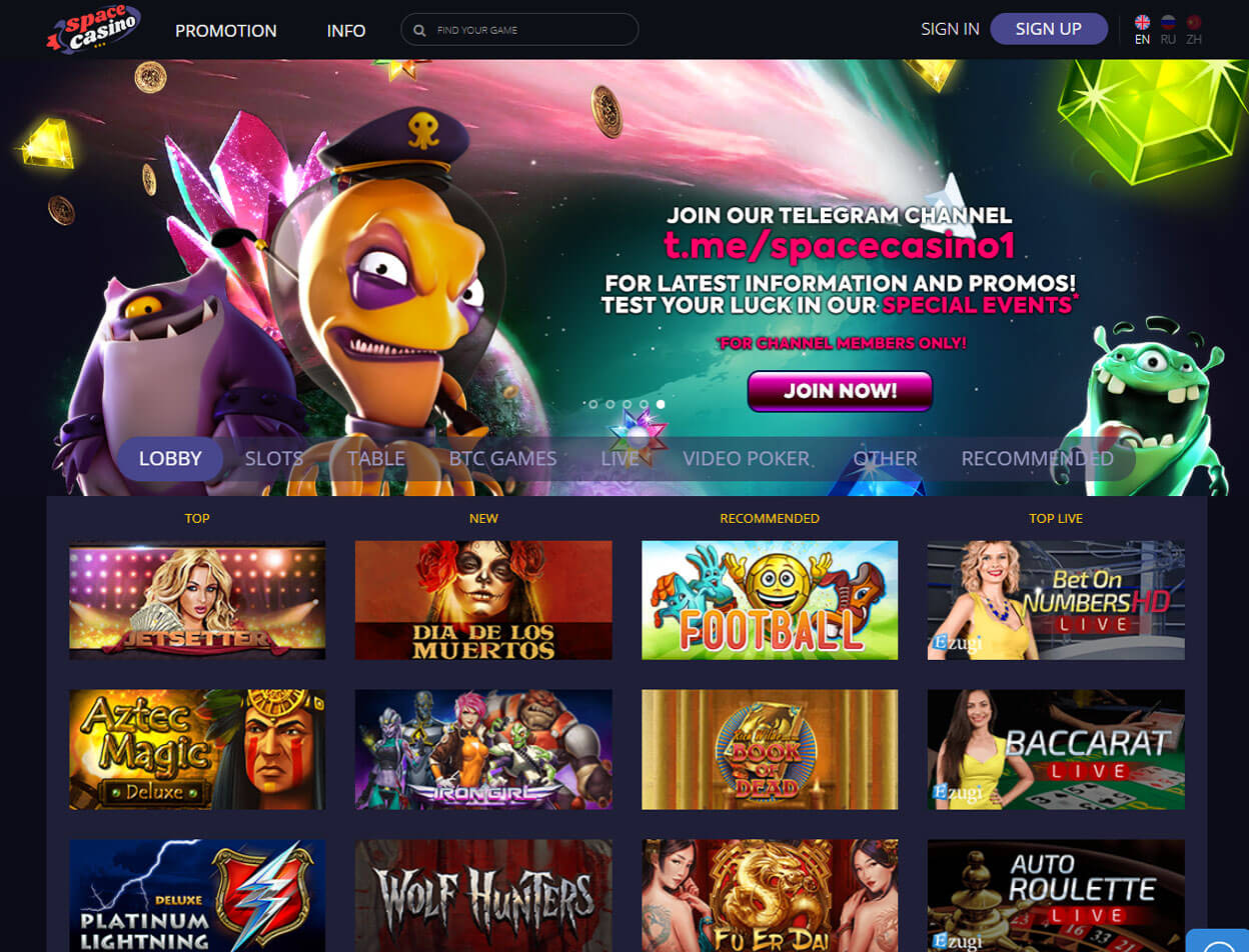Space Casino Screenshot 1