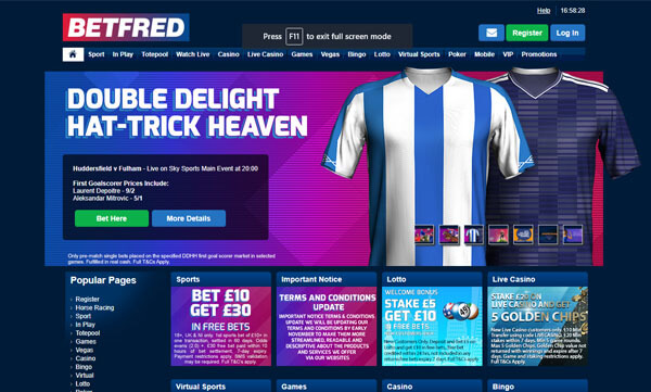 Betfred Screenshot 1