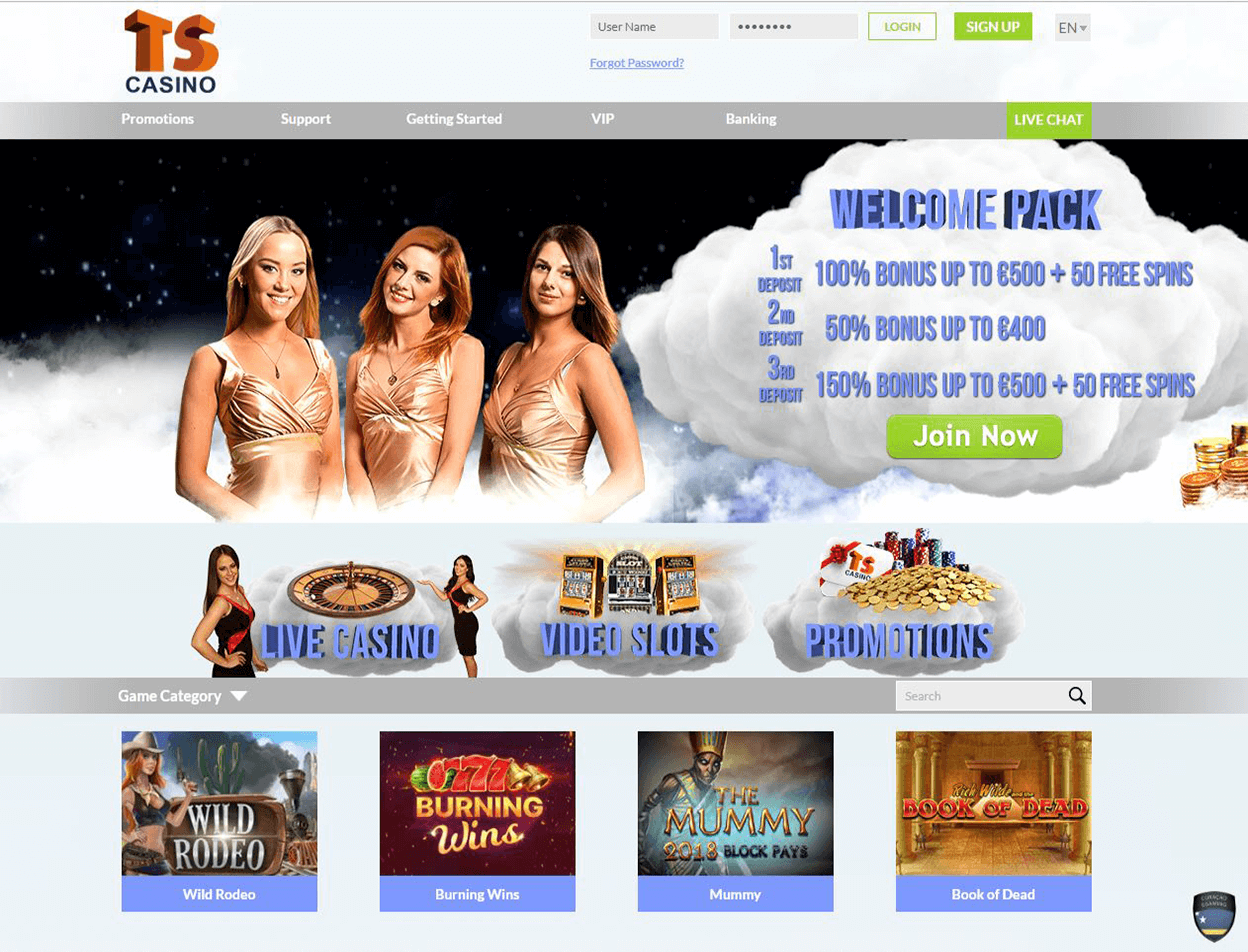 TS Casino Screenshot 1