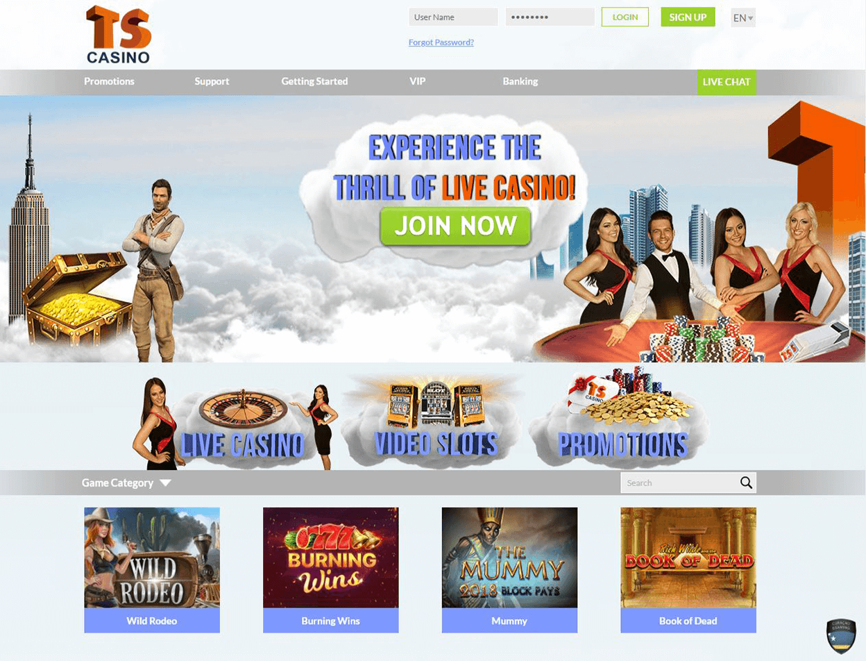 TS Casino Screenshot 3