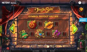 Jingle Spin paytable